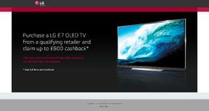 LG OLED E7 tv cashback stackable with price match offers.