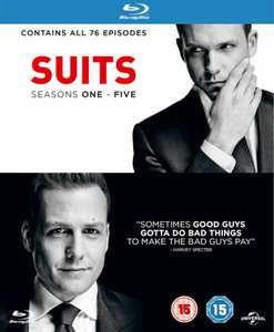 Suits 1-5 contains first 5 season of Suits (76 episodes) on 19 blu ray discs £19.79 @ Zavvi