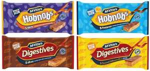 Various McVitie's slices 5 bars per pack Hobnob and Digestive Various Flavours 64p Each Reduced from £1.00 @ Asda