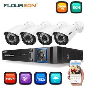 Floureon 4 X 3000TVL 2.0MP Bullet Camera and 1080n DVR (UK Warehouse) - £44.56 @ Gearbest
