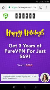 PureVPN 3 years for 69$~51£