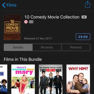 10 Comedy Movie Collection iTunes Christmas deal £9.99