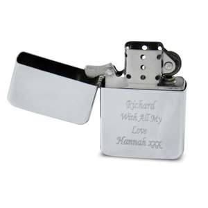 Personalised Engraved Chrome Petrol Lighter - £2.38 - Amazon/1stClassGifts
