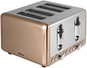 Swan Brand ST14050COPN 4 Slice Toaster (Copper) - was £48.29 now £37.49 @ Amazon