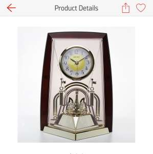 Seiko Brown Plastic Rotating Pendulum Clock £21.00 was £69.99 @ Argos