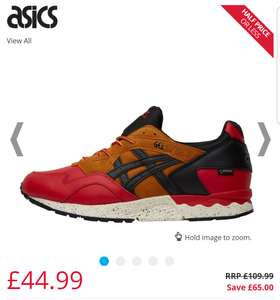Asics Gore-Tex Pack Trainers Red/Black at MandMDirect for £44.99 / £49.48 delivered