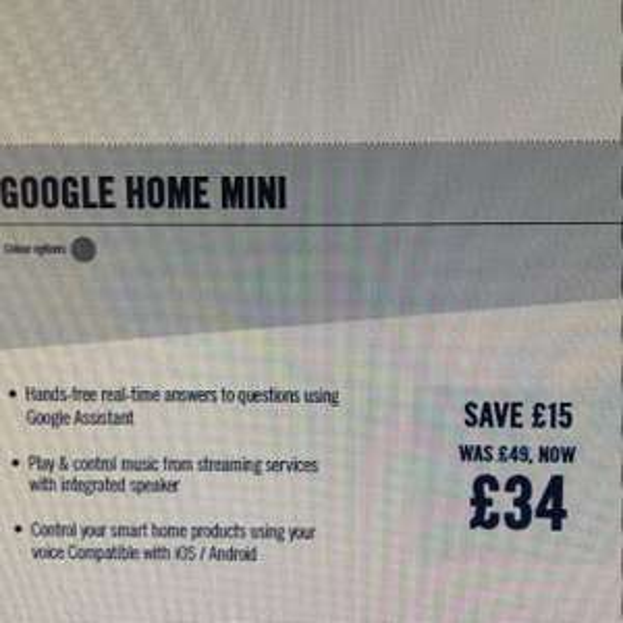 ***goes live on MONDAY*** Google Home Mini £34 @ Carphone warehouse