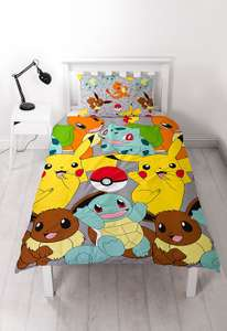 Pokemon bed sheets - £9.99 Prime / £13.98 non Prime @ Amazon