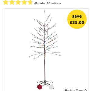 Wilko 6ft Indoor Colour Changing Twig Christmas Tree £15 in store only