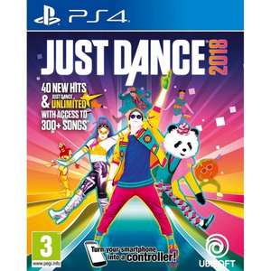 JUST DANCE 2018 FREE STANDARD UK DELIVERY £25.95 @ The game collection