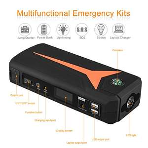 FLOUREON 500A 16800mAh Portable Car Jump Starter £26.39 Sold by EKEYUK and Fulfilled by Amazon