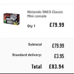 Nintendo SNES Classic £84.94 delivered @ Argos
