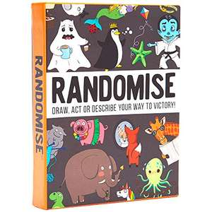 Randomise game: Draw, act or describe your way to victory £8.99 prime / £12.98 non prime Sold by Gamely Ltd and Fulfilled by Amazon