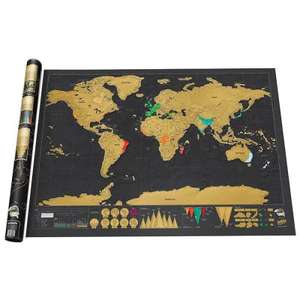 Large Size Scratch-off World Map Poster  32.4 x 23 inch £5.26 @ Gearbest