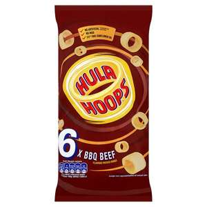 KP Hula Hoops (Varieties as Stocked) (6 x 24g) Half Price was £1.60 now 80p @ Tesco