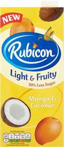Rubicon Mango & Coconut Light and Fruity (1L) ONLY 50p /  Britvic Low Calorie Tonic Water (150ml) ONLY 10p @ Poundstretcher