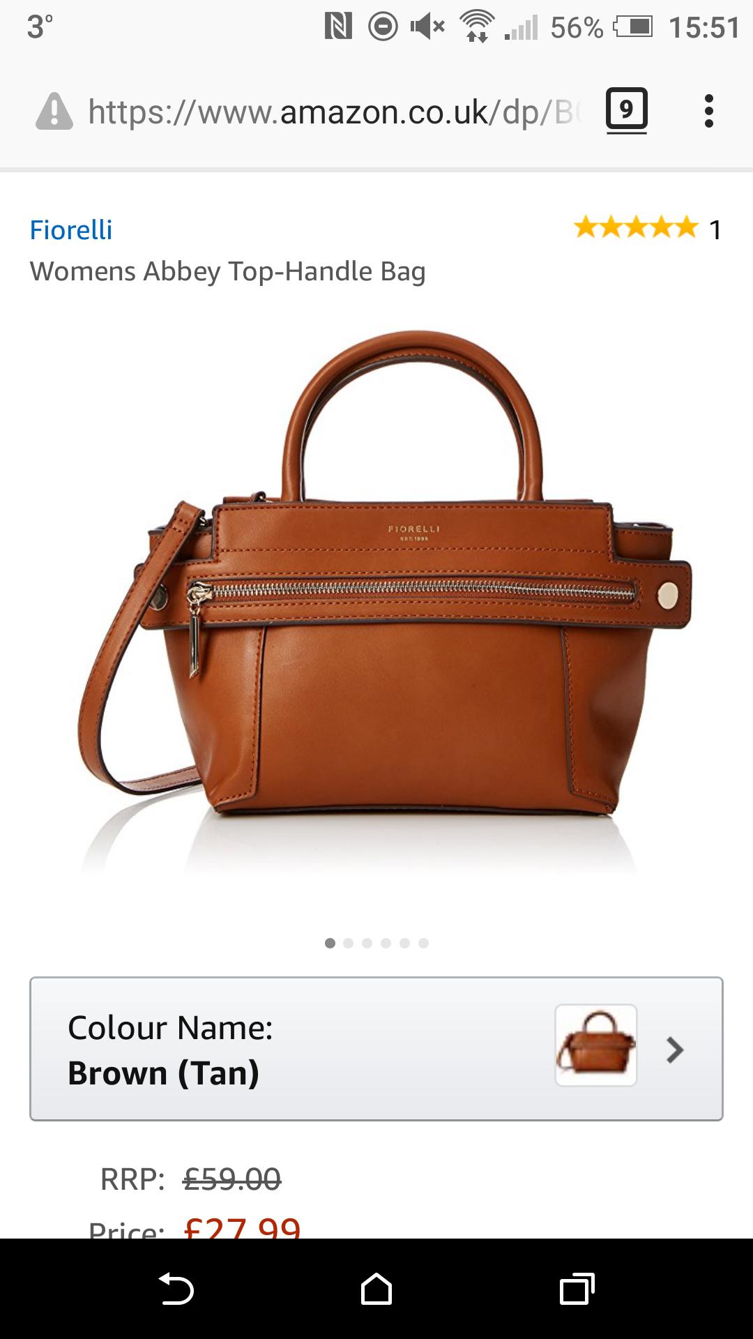 Womens Abbey Top-Handle Bag £27.99 @ Amazon