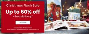 Up to 60% off at PhotoBox + Free Delivery over £30 + Extra 10% OFF with FLASH10 code