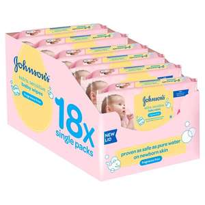 Johnson's Baby Extra Sensitive Wipes (18 x 56) per pack was £14.49 now £10.00 @ Ocado