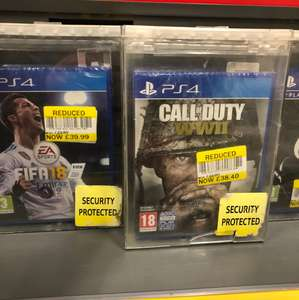 COD WW2 in store Reduced to clear £38.40 instore @ Tesco