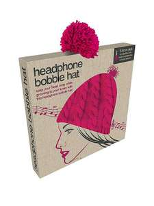 Pink Headphone Bobble HatAt £9.99 free c&c @ very