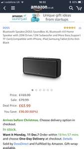 Doss Soundbox XL - £63.99 @ Sold by DossDirect / Sold by Amazon (Prime Exclusive)