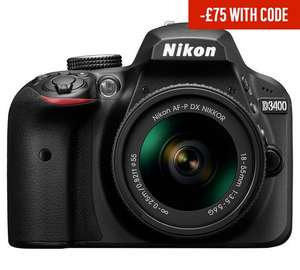 Nikon D3400 DSLR Camera with 18-55mm Lens £354 @ Argos