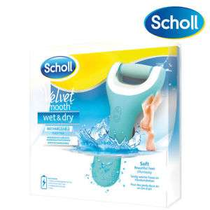 Scholl Velvet Smooth Pedi Wet and Dry Rechargeable Electric Foot File Waterproof £19.99 @ Ebay  prime_retailing