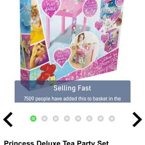 Studio glitch:  Princess deluxe tea party set priced at 0.00 then code 033 for free delivery.