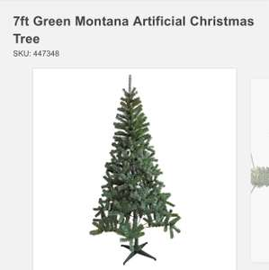 7ft Green Montana Artificial Christmas Tree WAS £15 NOW £10 instore / online @ Homebase (+ £3.95 Del for online orders)