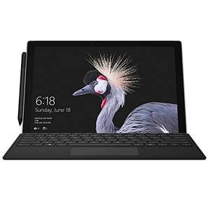 "Microsoft Surface Pro 12.3"" Tablet PC (Silver) - (Intel 7th Gen Core m3-7Y30, 4 GB RAM, 128 GB SSD, 2017 Model) with Surface Pro Type Cover - Black, only £619.99! @ Amazon"