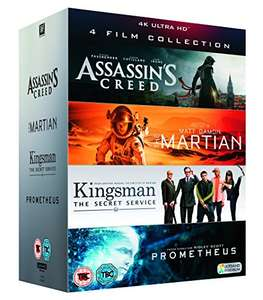 UHD 4 Film Collection (Assassin's Creed, The Martian, Kingsman & Prometheus) £24.99 Delivered @ Amazon