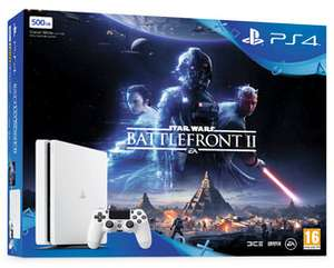PS4 500GB Glacier White Star Wars Battlefront II + FREE DualShock 4 Controller Black V2 £224.86 @ Shopto