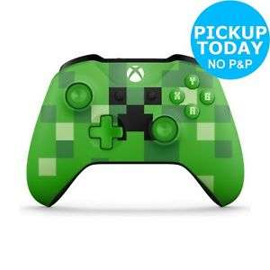 Xbox One Minecraft Creeper Controller, Argos Ebay Shop, collected from Argos