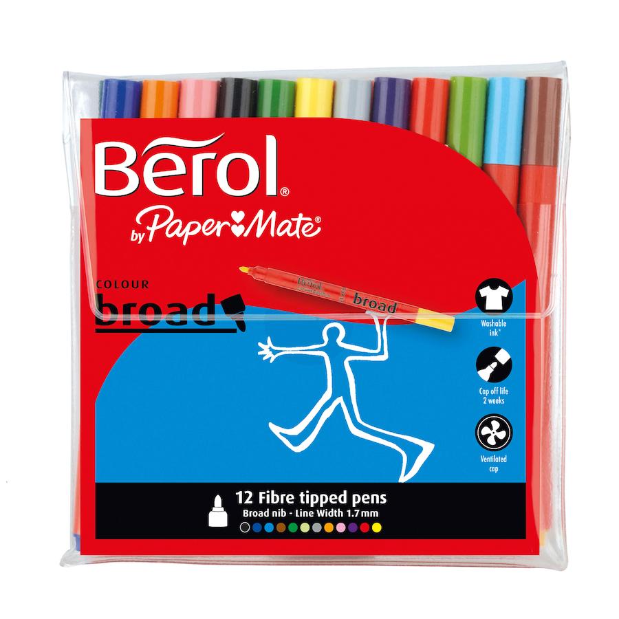 Berol broad/ fine felt tip pens. £3.59 Free delivery!!  @ TTS
