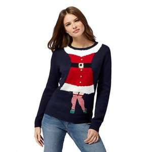 Debenhams 50% off selected womens Christmas jumpers - part of a wider 50% off knitwear deal (today only)