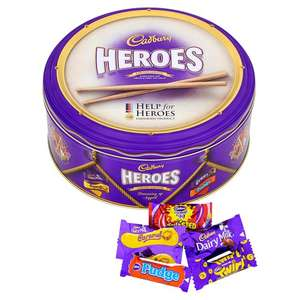 Cadbury Heroes Tin 1kg £6 (from 11th December) @ Tesco