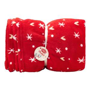 Superdrug Sweet Snuggles Heart and Star Blanket Xmas Red was £14 now £5
