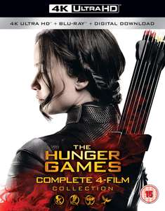 The Hunger Games Complete Collection 4K UHD Blu Ray with Digital Downloads £39.99 HMV