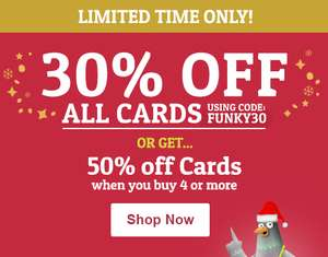 30% Off Funky Pigeon all Cards w/code ENDS MIDNIGHT
