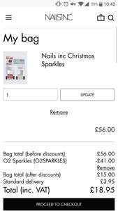 Nails inc Christmas Sparkles (£15 + £3.95 postage)