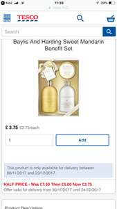Baylis and harding gift set less than half price amazing deals - £3.75 @ Tesco Groceries