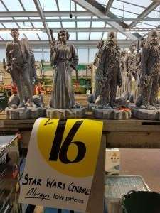 Starwars Garden Gnomes £16 instore @ Homebase