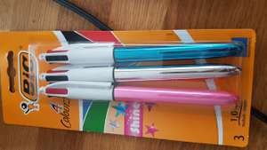 4 colours BIC PENS x 3 scanning at 30p Sainsbury's instore