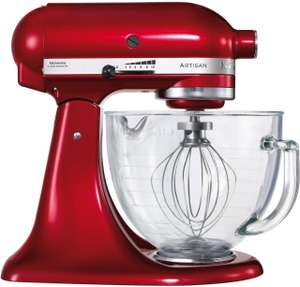 KitchenAid 5KSM156BCA Artisan Stand Mixer with Glass Bowl, reduced from £549 to £279 @ Oldrids