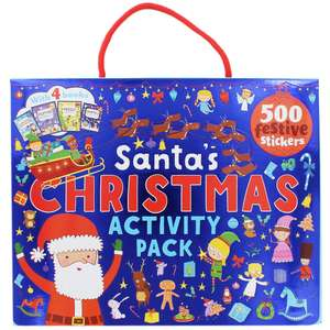 Santas Christmas Activity Pack RRP:£9.99 WAS £5 SAVE £7.49 Free Click & Collect - £2.50 @ The Works
