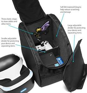 PS4 VR Headset and Accessories Travel Storage Bag £16.99 prime / £21.74 non prime Sold by theWireless USA and Fulfilled by Amazon