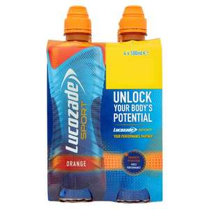 Lucozade Sport Lite Orange (4 x 500ml) (Plus other varieties as stocked by the store) Half Price was £3.50 now £1.75 @ Tesco