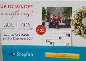 Snapfish: up to 40% off on everything
