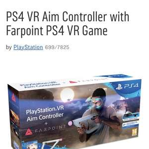 PS4 VR Aim Controller with Farpoint PS4 VR Game £54.99 @ Argos